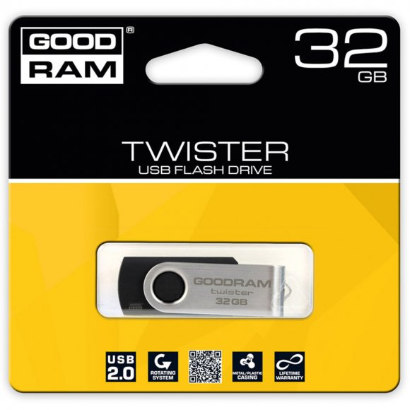 USB FD 32GB TWISTER USB 2.0 GOODRAM