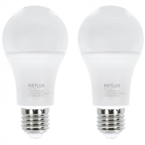 REL 21 LED A60 2x12W E27 WW RETLUX
