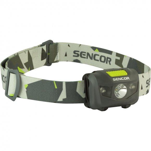 Čelovka 3W+2R 3XAAA Sencor SLL 55 GREY