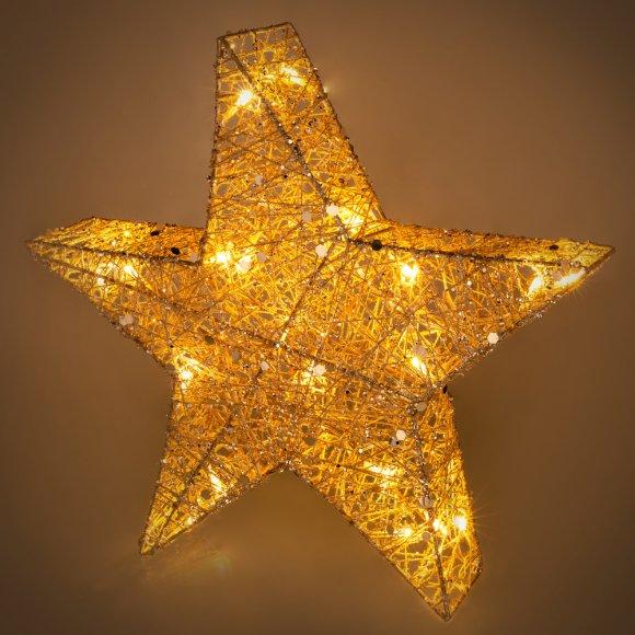 RXL 327 hvězda třpyt. 20 LED 40cm RETLUX